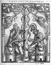 E_shape_of_a_furnace_for_distillati