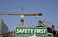 Safetyfirstwarningsignconstructions