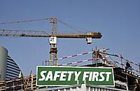 Safetyfirstwarningsignconstructions