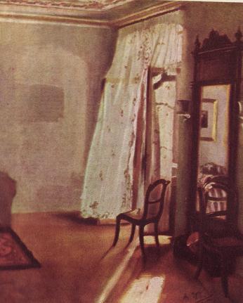 Img バルコニーのある部屋 1845  ベルリン国立美術館    アドルフ・...  ケペル先