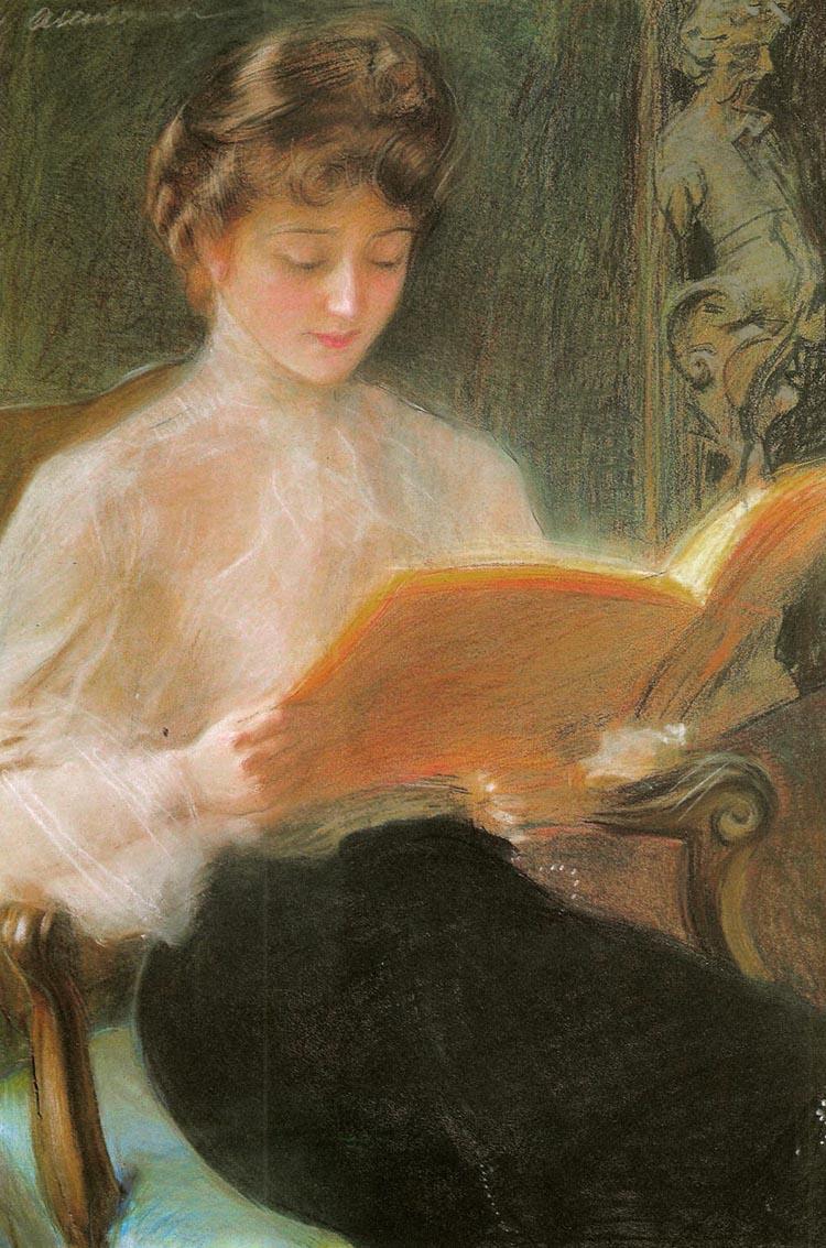 Axentowiczwomanreading