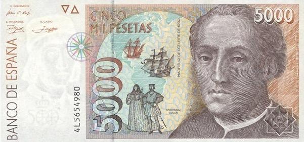 Spainpapermoney5000spanishpesetasbi